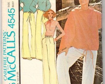 Vintage Sewing Pattern 1970's Ladies' & Men's Sweatshirt and Trousers McCall's 4545 - With FREE Pattern Grading E-book