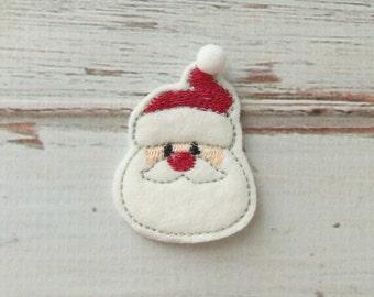 Santa Felt Appliques, Christmas Felt Appliques, Santa Felties, Holiday Santa Felt Appliques, Christmas Santa Appliques