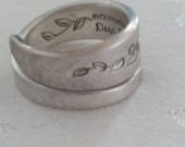 spilled flowers spoon ring