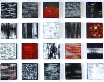 SALE! | Original Abstract Wood Wall Art Wall Sculpture | Painted Wood Blocks | Contemporary Art | Hospitality Artwork | Rosemary Pierce Art