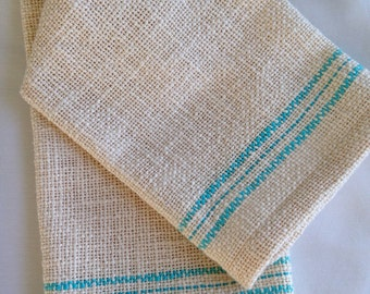 Cotton Dish Towel Aqua Tea Towel