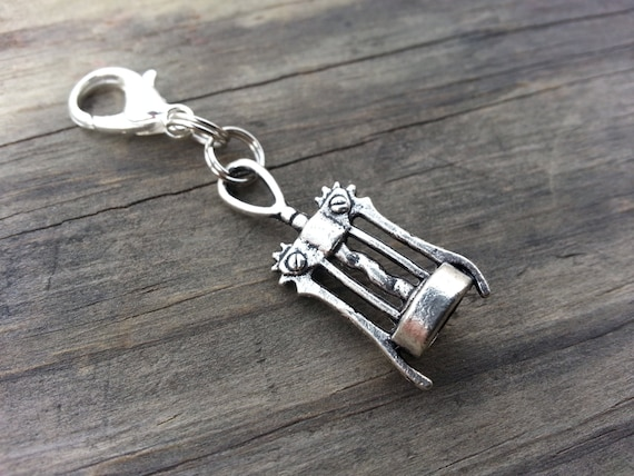items similar to wine bottle opener corkscrew charm zippered pull charm bracelet keychain shoe. Black Bedroom Furniture Sets. Home Design Ideas