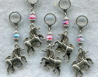 Unicorn Stitch Markers Mythical Magical Creatures Set of 5 /SM29