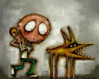 Original Painting - Modern Abstract Art by SLAZO - 36x36