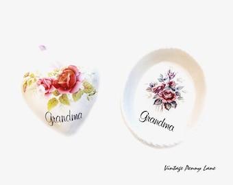 Vintage GRANDMA Potpourri Pomander, Soap / Trinket Dish