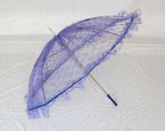 Vintage  50s/60s Lace Purple Parasol
