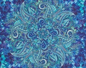 Paisley Belize Feather Timeless Treasures Fabric Panel