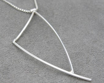 Abstract Silver Pendant