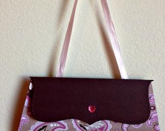Purse gift card - Pink Paisley