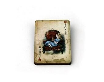 Alice & Dinah Brooch, Alice in Wonderland Brooch, Tenniel Illustration
