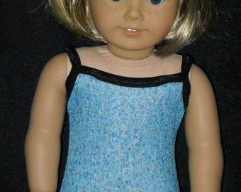 American Girl 18 inch Doll Bathing Suit  Handmade Blue