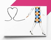 Pencil Heart greetings card/Valentine