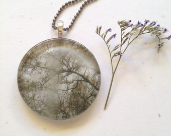 Oak Tree Nature Photography Necklace - Winter Oak