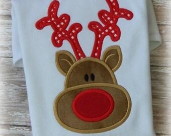 Little Reindeer Boy Embroidery Applique Design
