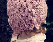 Download Now - CROCHET PATTERN Rose Petal Baby Bonnet - Baby and Toddler - Pattern PDF