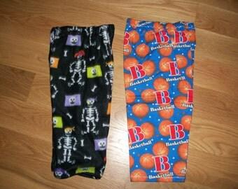 Child Lounge Pants 2 Pack Size 2 Halloween Fleece Baseball Print Flannel