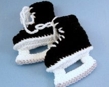 Free Crochet Pattern Baby Hockey Skates : Unique crochet baby booties related items Etsy