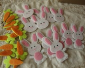 Easter bunny and carrots felt stickers bunnies Scrapbooking embellishments kids crafts stickers supplies paper crafts for spring