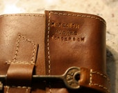 Custom Imprint on Leather Journal - Names and Date ADD ON
