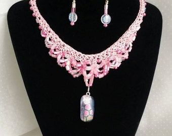Sparkle & Shimmer in Pink Necklace