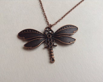 Dragonfly Necklace, Dragonfly Jewelry, Insect Necklace,