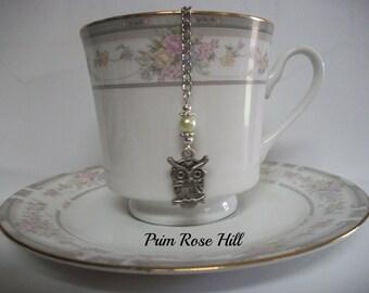 Green Pearl OWL Tea ball Infuser