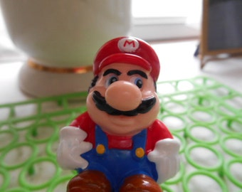 1989 Super Mario Bros PVC Spring Pop-Up Nintendo Figure Toy