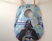 Darth Vader Baby Bib Upcycled from Vintage Bed Sheets - Star Wars Baby Gift