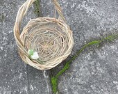 Wisteria Shoot Flower Girl Basket, Earthy Basket, Natural Vine Honeysuckle, WS