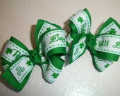 St. Patrick's Day Hair Bows (Item 15-67)