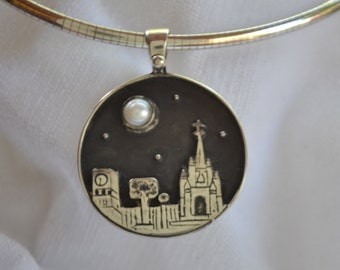 San Miguel Skyline Pendent in Silver