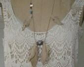Three Bridemaids Assorted Hemp leather feather leaf Hippie Necklaces