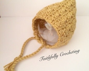 Newborn textured pixie hat.. Photography prop.. Ready to ship