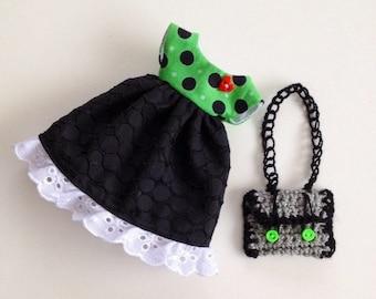 SALE - Dress & Bag Set for Blythe