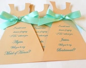 Will you be my Bridesmaid Card Bridesmaid Dress Invitation Invite Thank you Bridesmaid Wedding Party Invitation Card