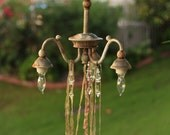 Adorable Petite Industrial Shabby Distressed Chandelier