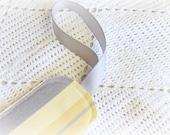Cabana Stripe -  Luggage Tag - Yellow - Gray