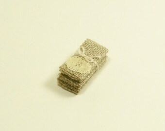 Lace Tea Towels Kitchen Shabby Chic 1:12 Dollhouse Miniatures Artisan