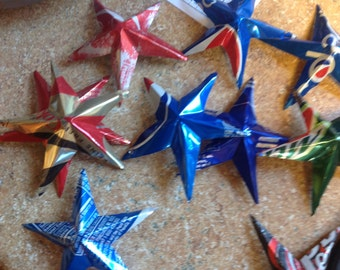 15 Pop can Star ornaments! Coke,Pepsi ect...