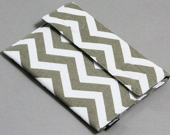 """iPad Case, for iPad Air, iPad, and other 9 -10""""  tablets, Canvas/Padded/Chevron."""