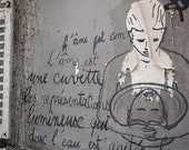 "SALE! Paris Photography, ""Montmartre Graffiti"" Paris Print, Large Art Print Fine Art Photography"