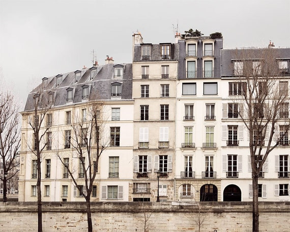 "Paris Photography, ""Quai"" Paris Print, Large Art Print Fine Art Photography, Paris Decor, Landscape Travel Photography"