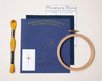 Scorpio Zodiac Embroidery Kit - diy constellation embroidery kit