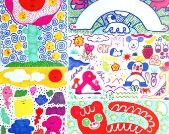 Dreaming of Warmer Times Postcard Kit (5 postcards)