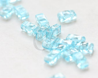 10 Grams Japanese Miyuki Tila Half Cut Beads-Aquamarine Transparent (HTL148)