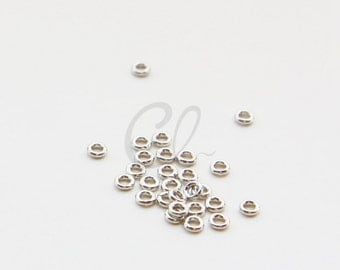 100pcs White Gold Tone Brass Base CLOSED Jump Rings- 3mm (1200)