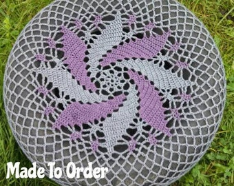 Spiral Multi-Colored Crochet Spare Tire Cover