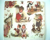 Vintage Christmas Holly Hobbie Wrapping Paper