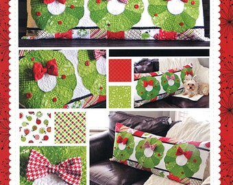 PATTERN DECK The HALLS Bench Pillow cover interchanagable