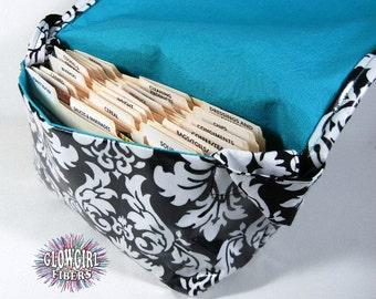 Large Coupon Organizer, Coupon Bag, Coupon Purse, Coupon Holder Damask Fabric